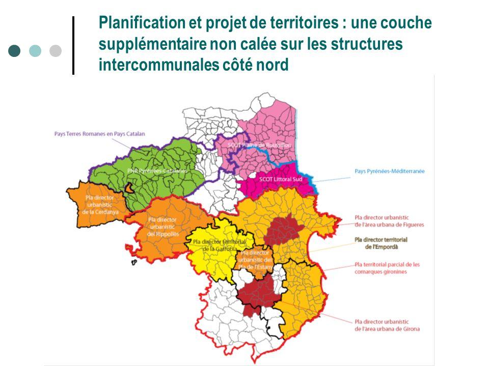 Planification et projet de territoires : une couche supplémentaire non calée sur les structures intercommunales côté nord