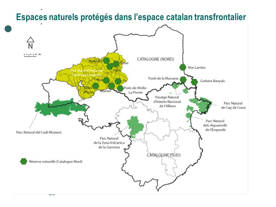 Espaces naturels protégés dans l'espace catalan transfrontalier