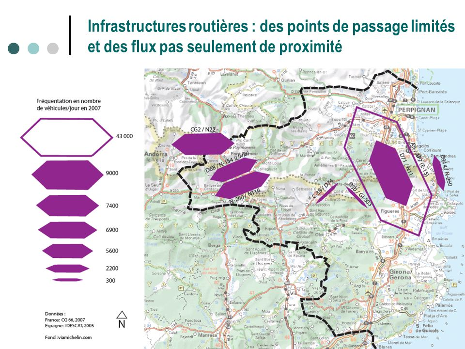 Infrastructures routières : des points de passage limités et des flux pas seulement de proximité
