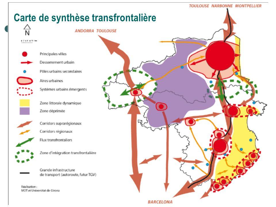 Carte de synthèse transfrontalière