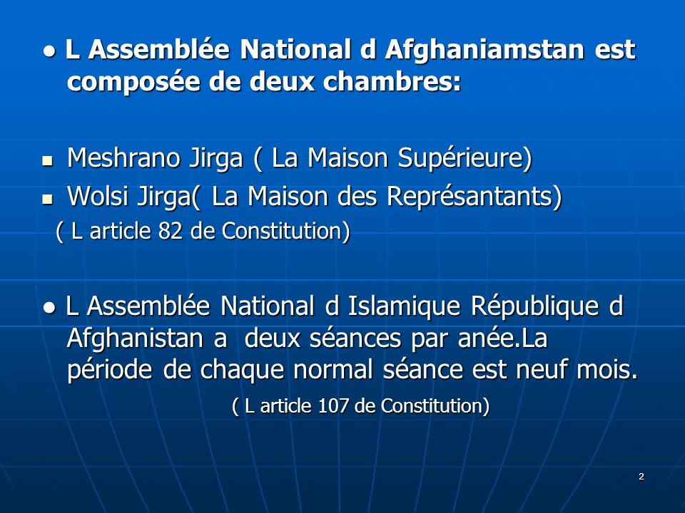 ( L article 107 de Constitution)