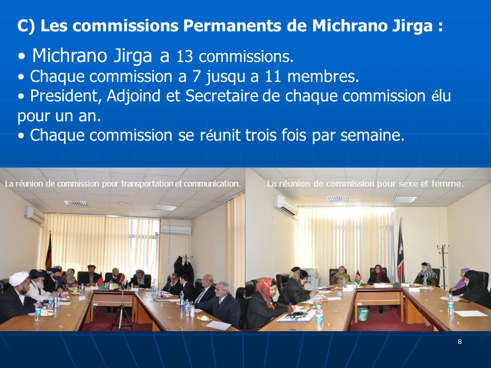 Michrano Jirga a 13 commissions.