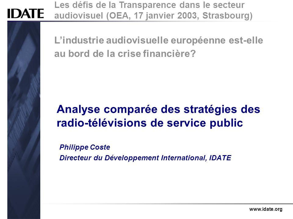 Philippe Coste Directeur du Développement International, IDATE