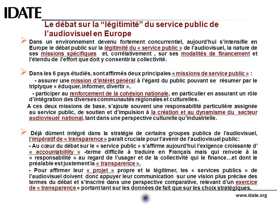 Le débat sur la légitimité du service public de l'audiovisuel en Europe