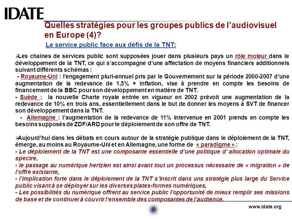 Quelles stratégies pour les groupes publics de l'audiovisuel en Europe (4)