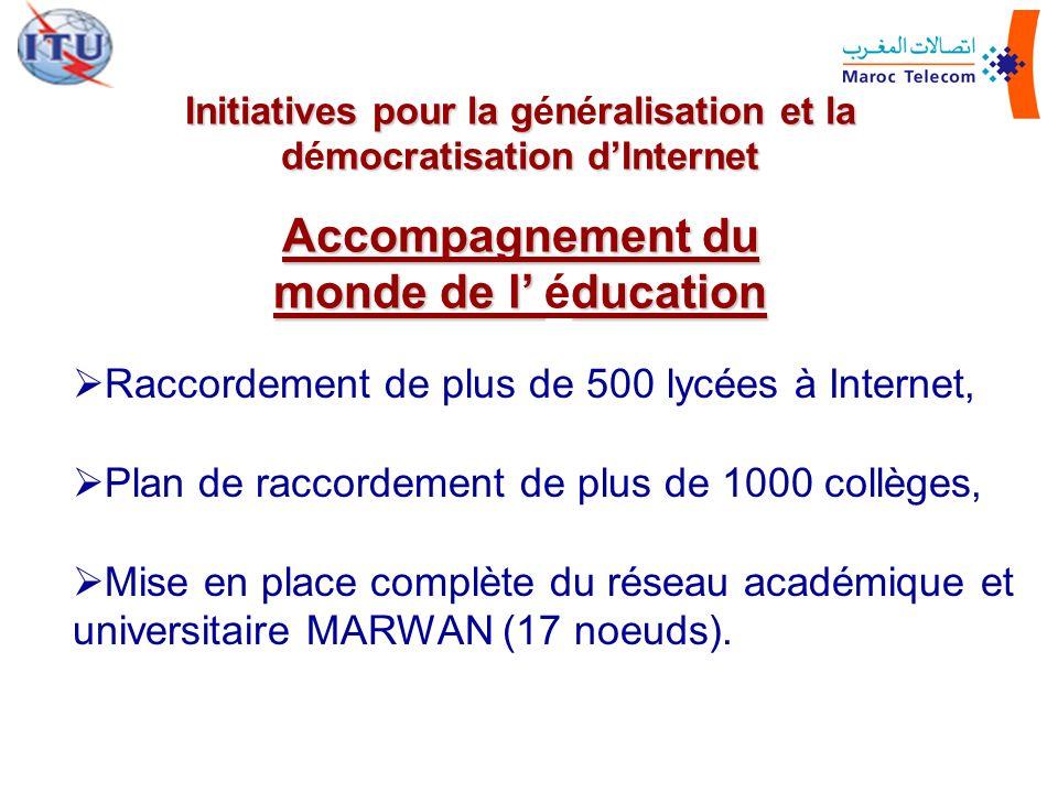 Initiatives pour la généralisation et la démocratisation d'Internet