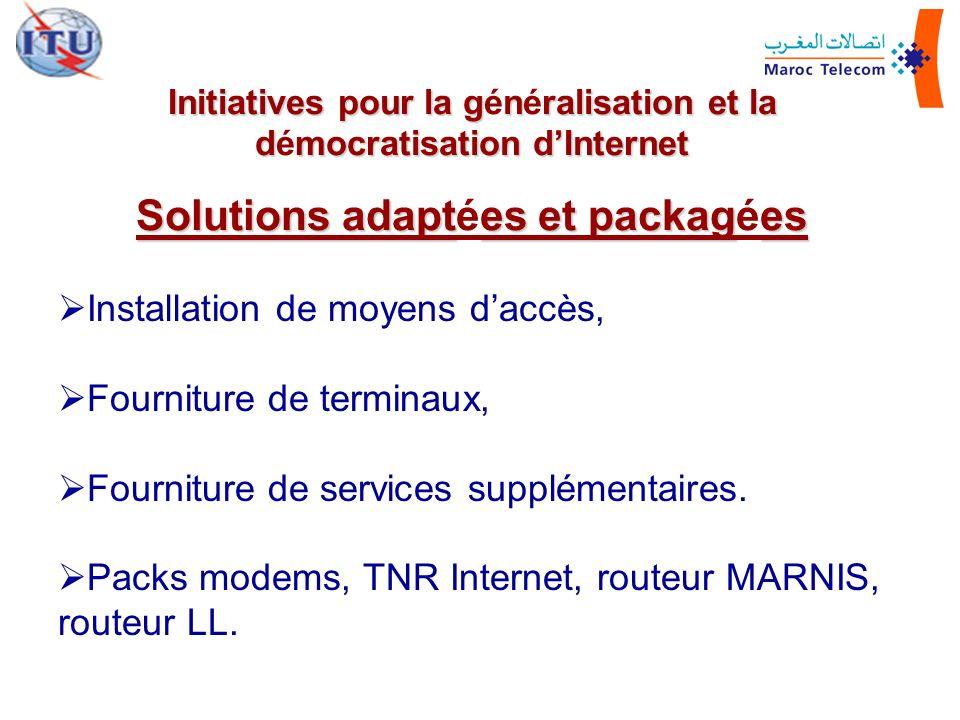 Solutions adaptées et packagées