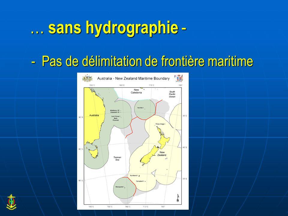… sans hydrographie - - Pas de délimitation de frontière maritime