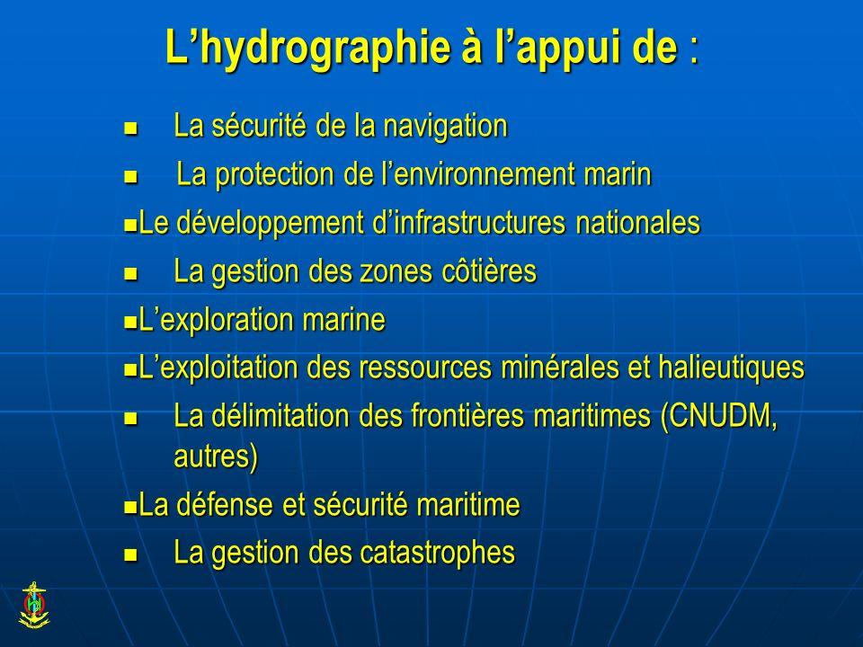 L'hydrographie à l'appui de :