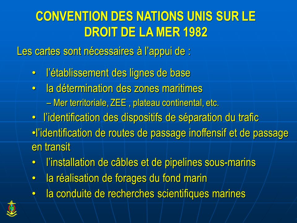 CONVENTION DES NATIONS UNIS SUR LE DROIT DE LA MER 1982