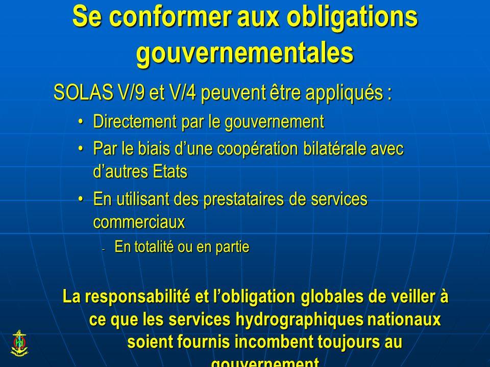 Se conformer aux obligations gouvernementales