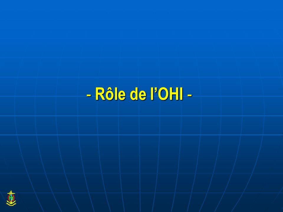 - Rôle de l'OHI -