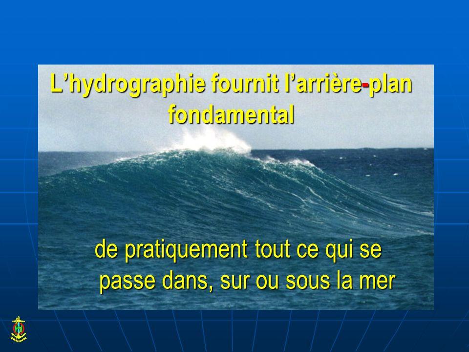 L'hydrographie fournit l'arrière-plan fondamental