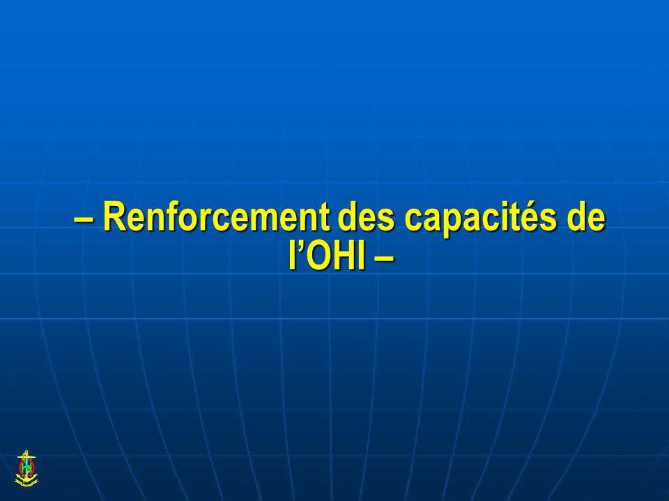 – Renforcement des capacités de l'OHI –