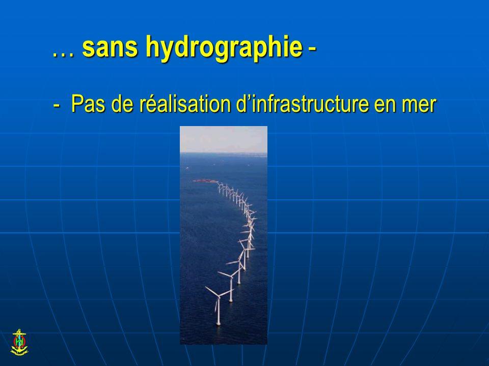 … sans hydrographie - - Pas de réalisation d'infrastructure en mer