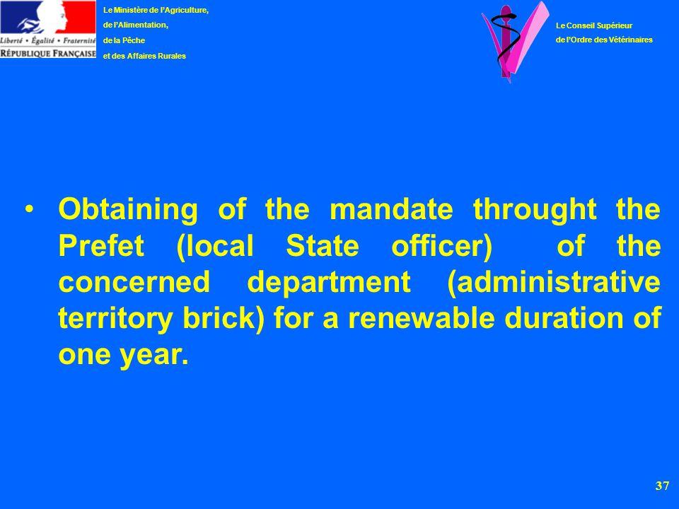 Le Ministère de l'Agriculture,