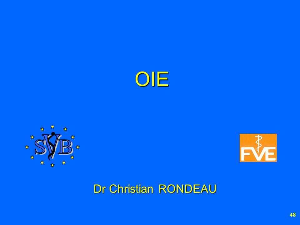 OIE V S B Dr Christian RONDEAU