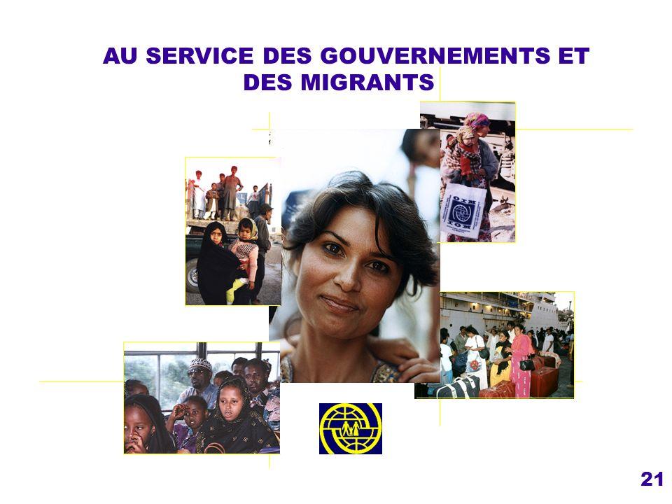 AU SERVICE DES GOUVERNEMENTS ET DES MIGRANTS