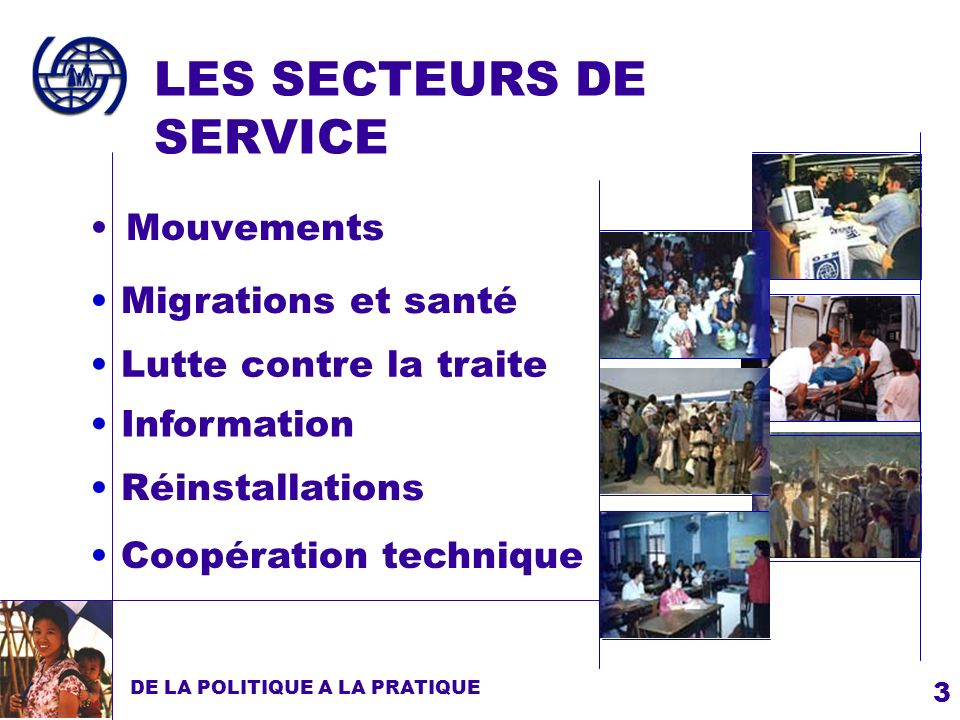 LES SECTEURS DE SERVICE