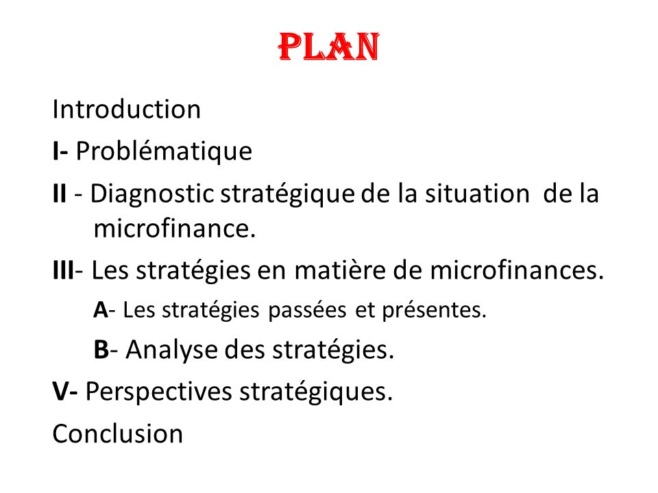 PLAN Introduction I- Problématique