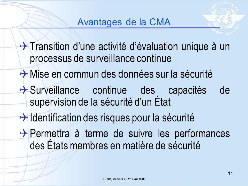 Mise en commun des données sur la sécurité