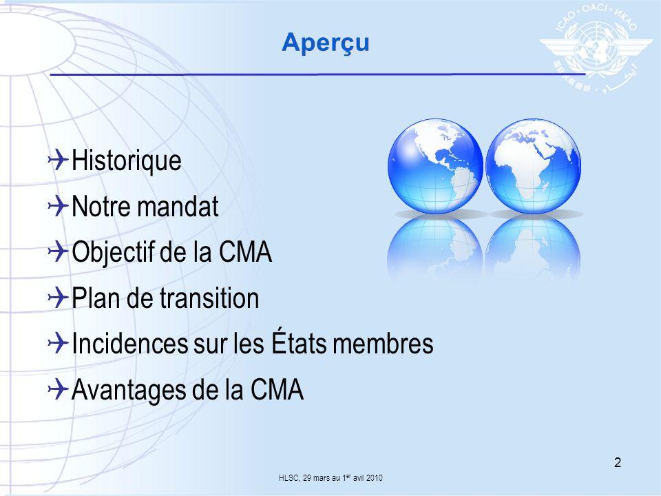 Incidences sur les États membres Avantages de la CMA