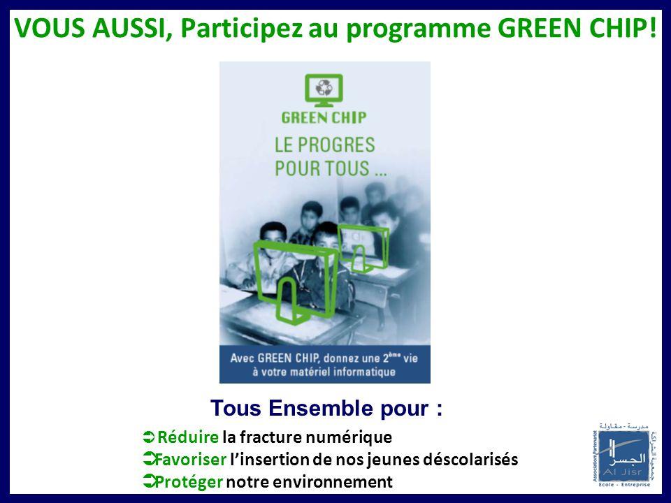 VOUS AUSSI, Participez au programme GREEN CHIP!