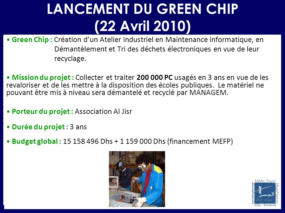 LANCEMENT DU GREEN CHIP (22 Avril 2010)