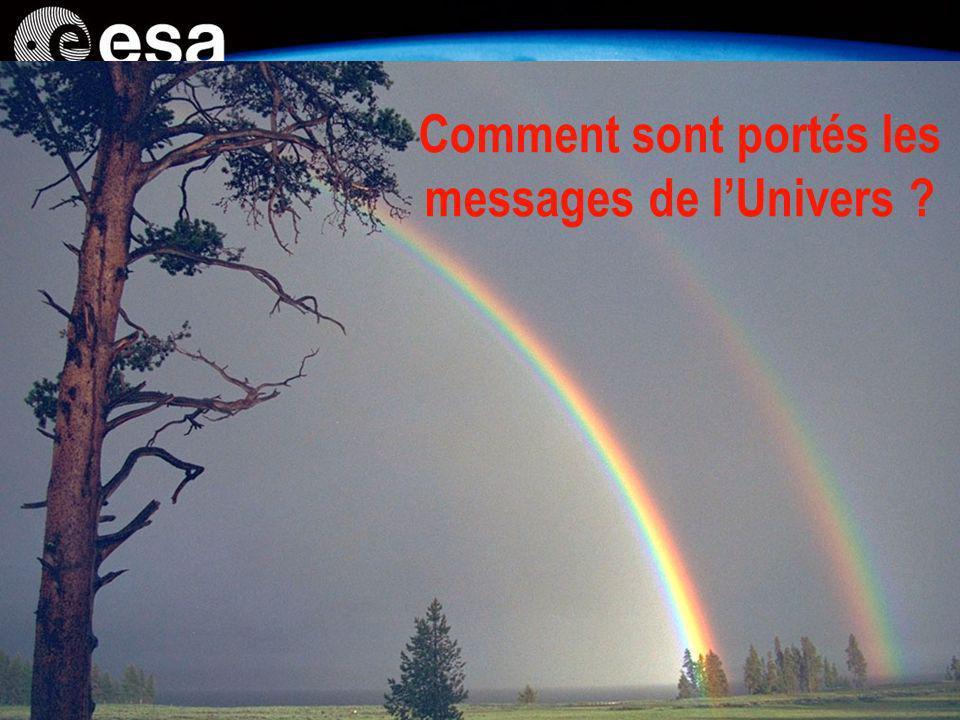Comment sont portés les messages de l'Univers
