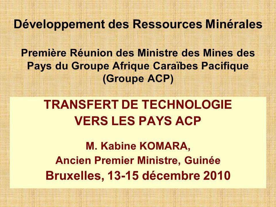 TRANSFERT DE TECHNOLOGIE Ancien Premier Ministre, Guinée