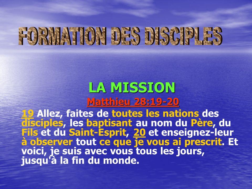allez et faites des nations des disciples