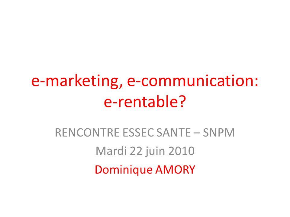 e-marketing, e-communication: e-rentable