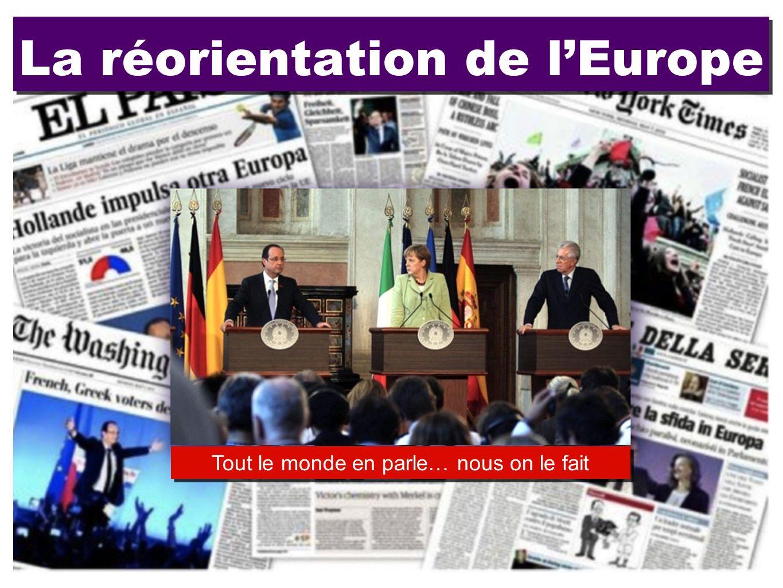 La réorientation de l'Europe