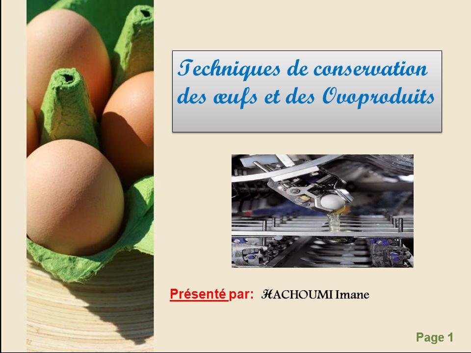 Techniques de conservation des œufs et des Ovoproduits