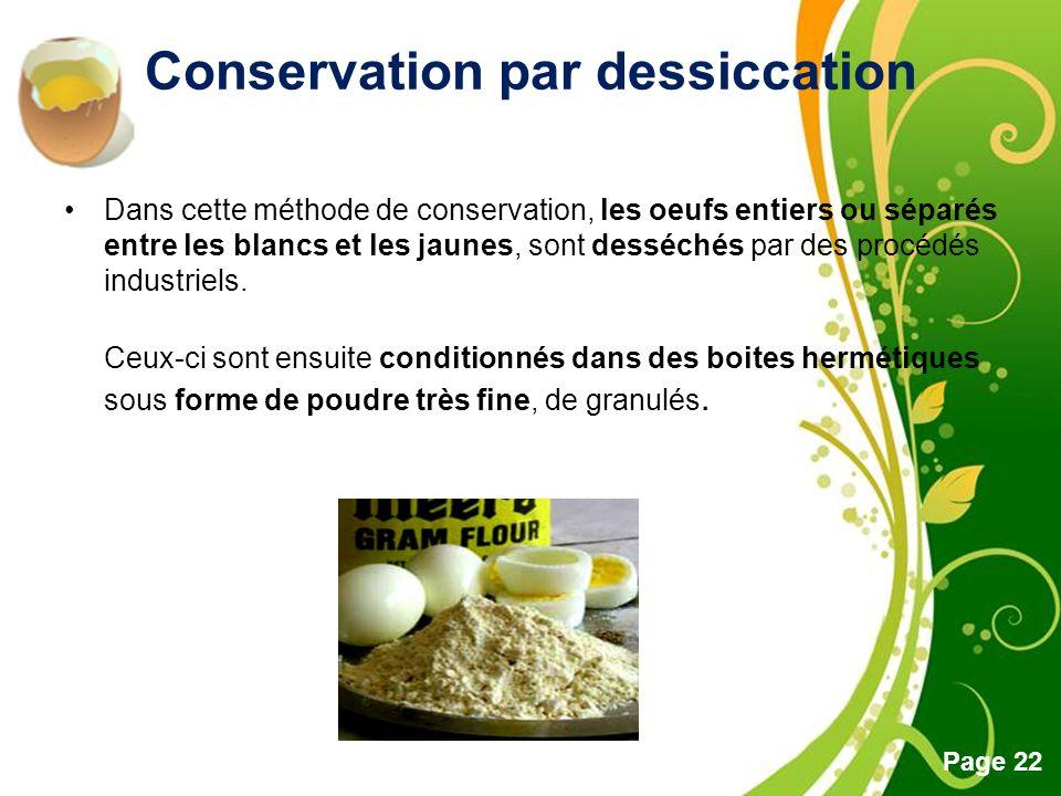 Conservation par dessiccation