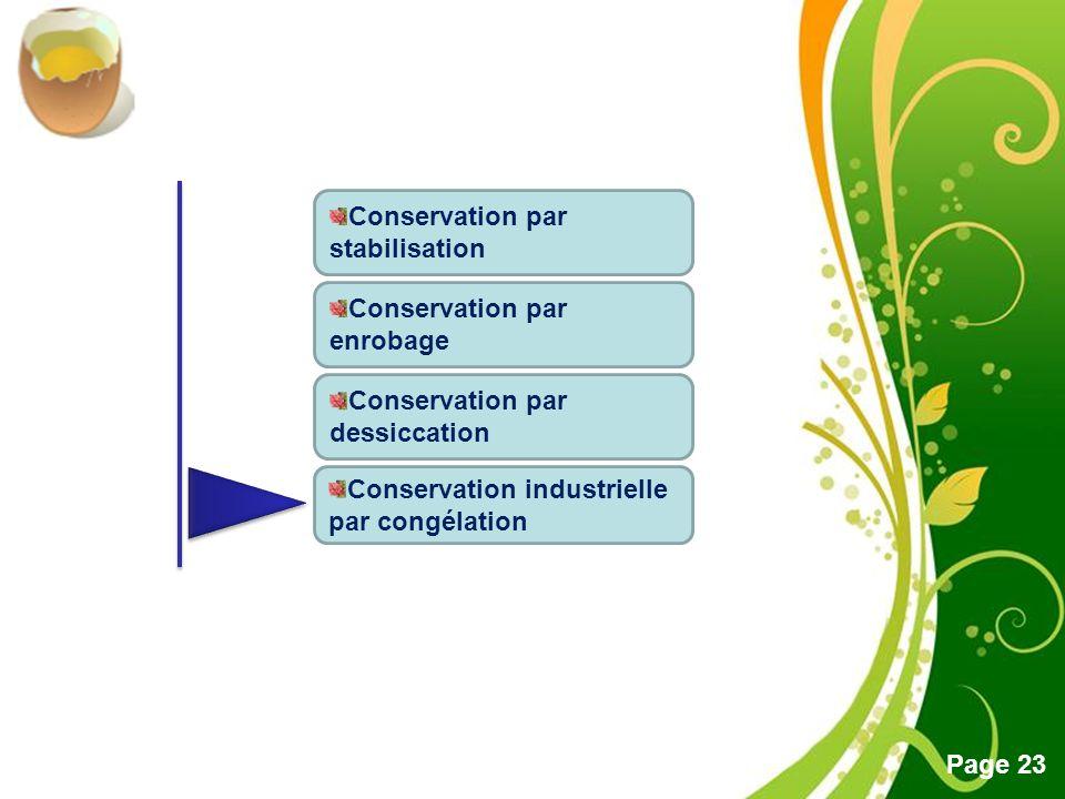 Conservation par stabilisation