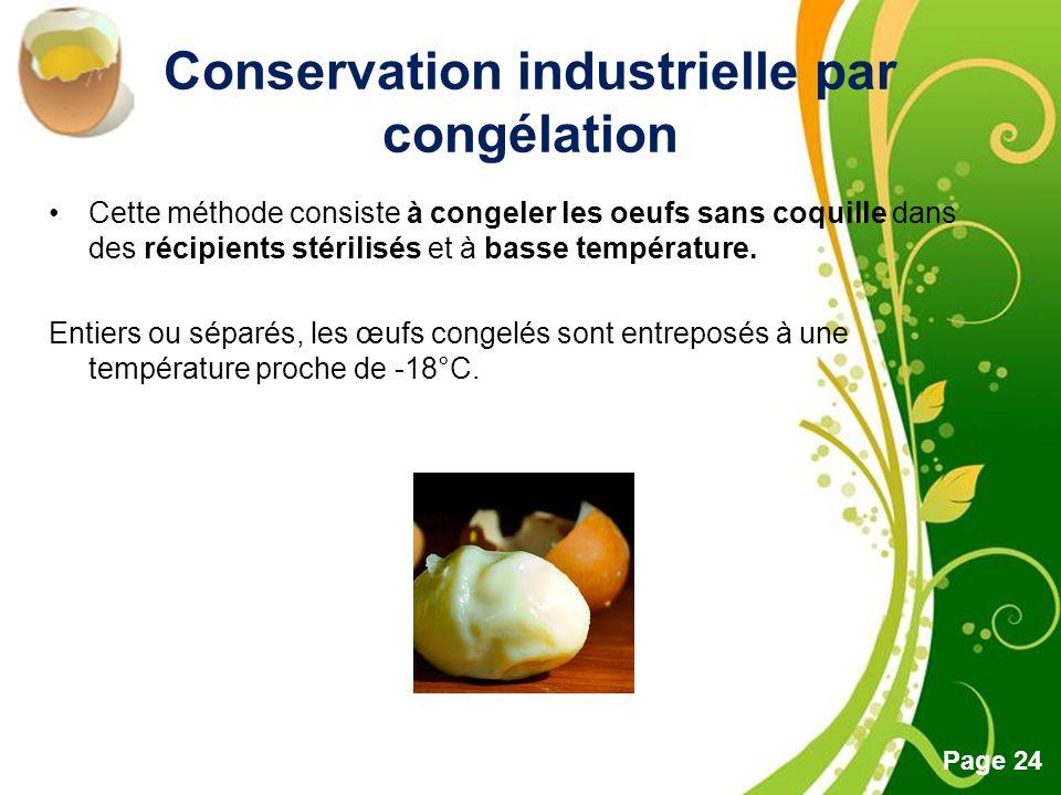 Conservation industrielle par congélation