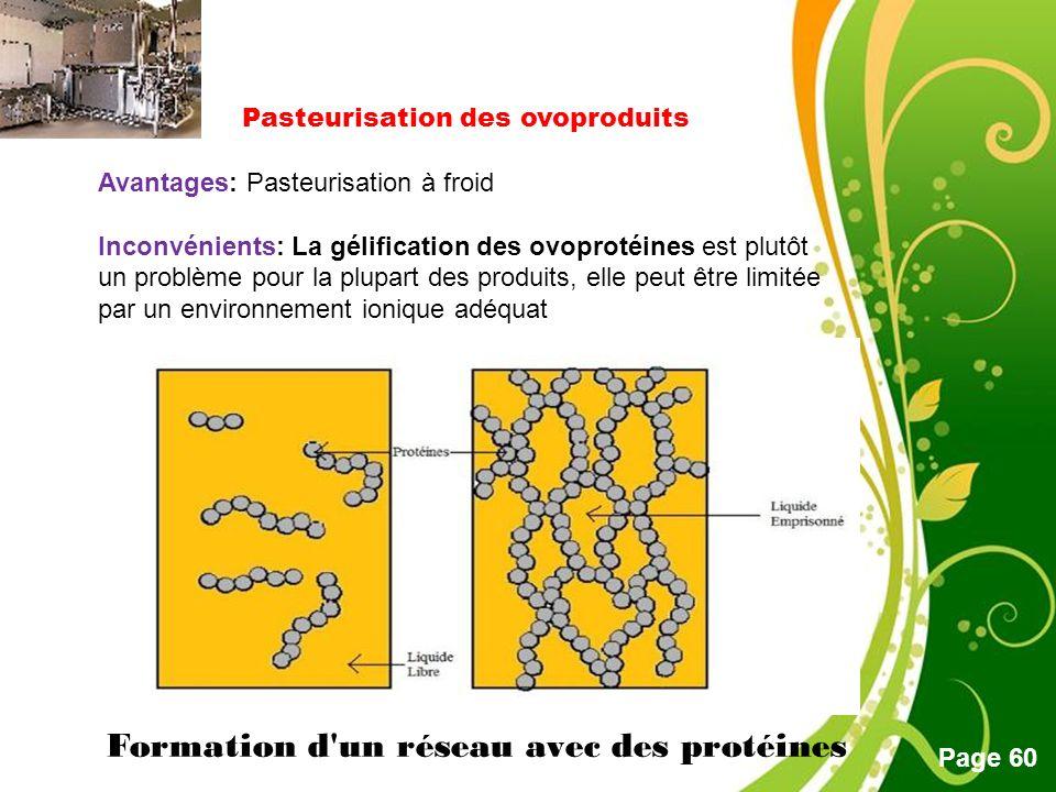 Pasteurisation des ovoproduits