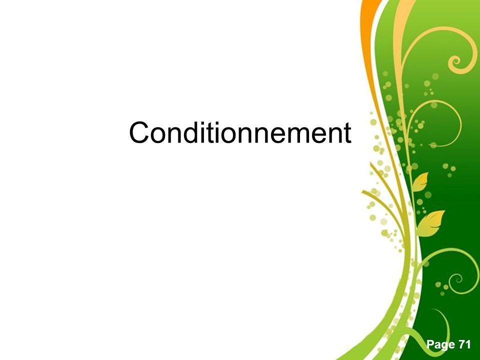 Conditionnement