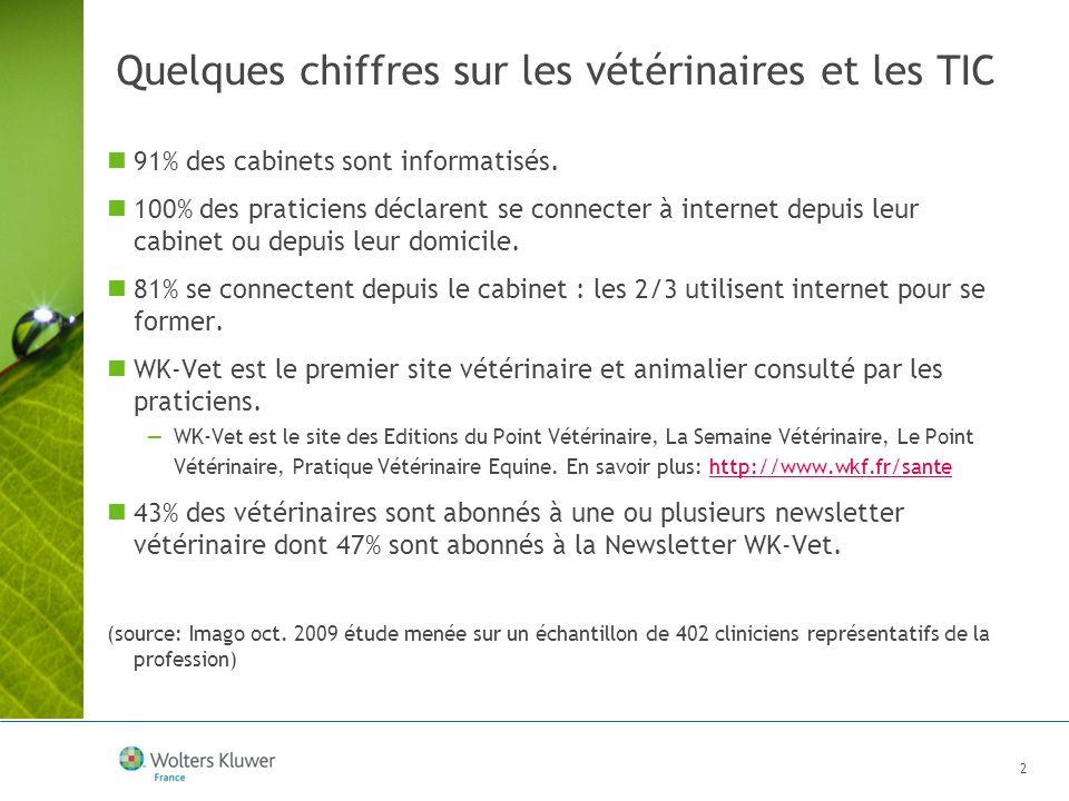Quelques chiffres sur les vétérinaires et les TIC