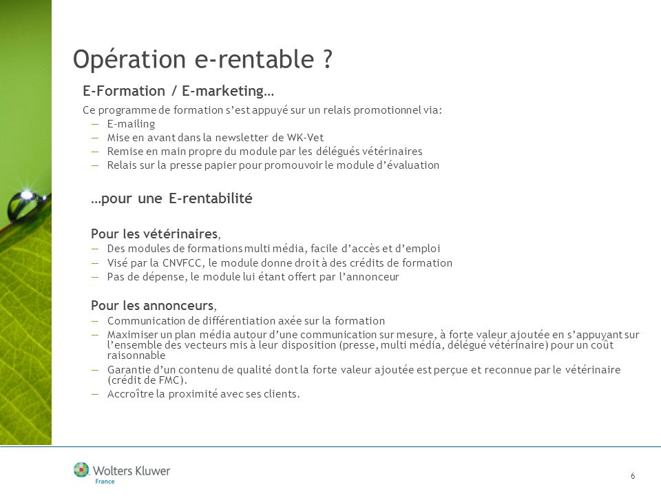 Opération e-rentable E-Formation / E-marketing…