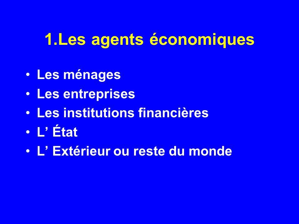 1.Les agents économiques