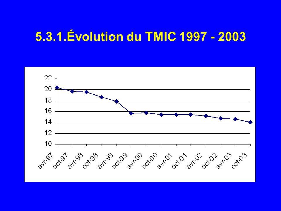5.3.1.Évolution du TMIC 1997 - 2003