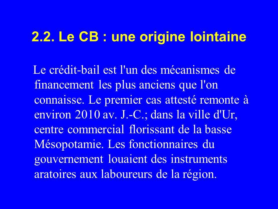 2.2. Le CB : une origine lointaine