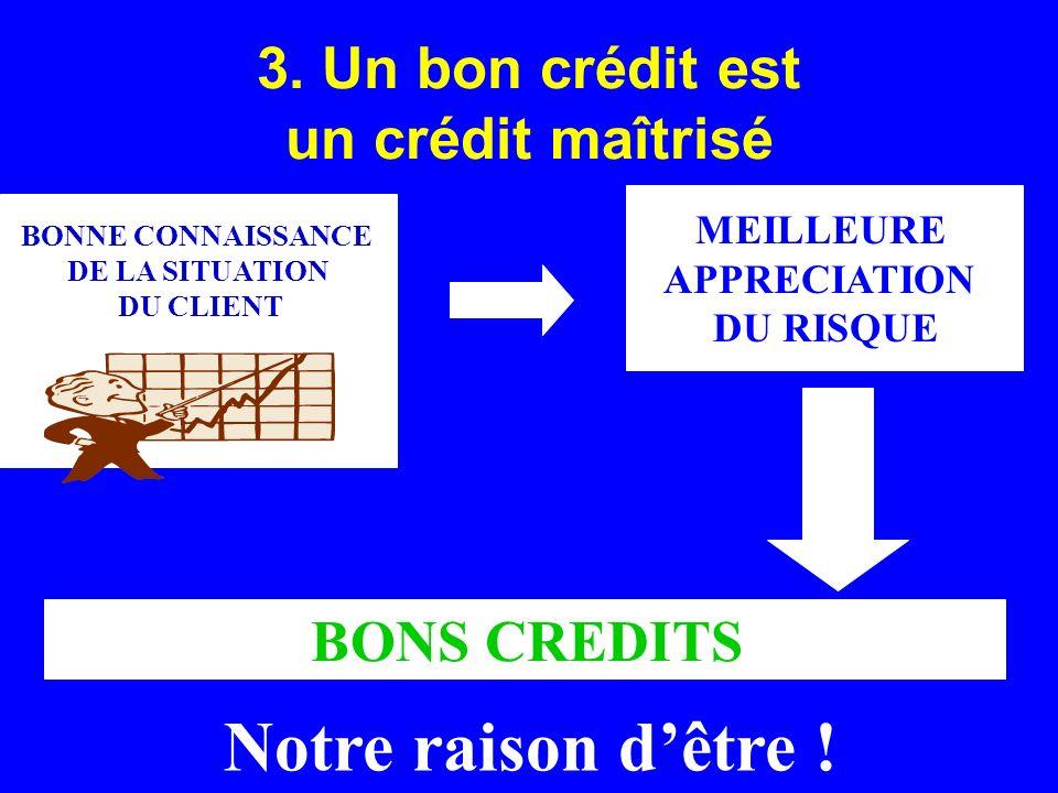 3. Un bon crédit est un crédit maîtrisé