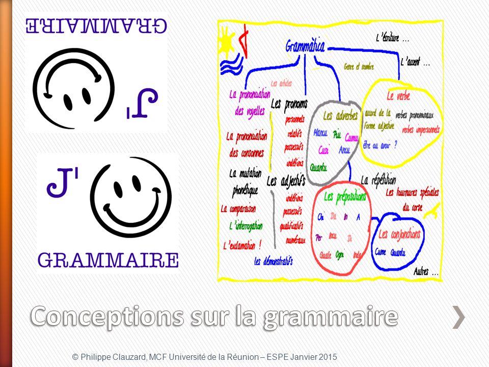 Conceptions sur la grammaire
