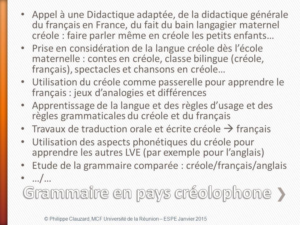 Grammaire en pays créolophone
