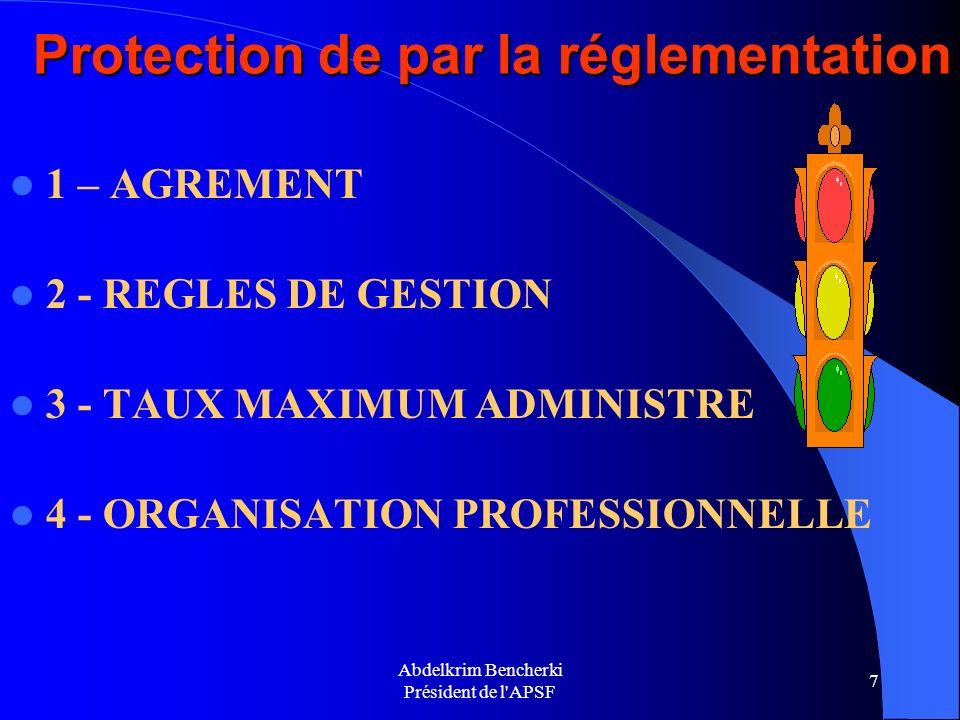 Protection de par la réglementation