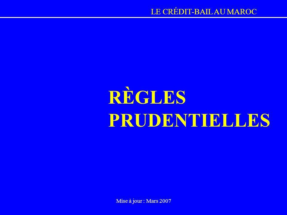 RÈGLES PRUDENTIELLES Mise à jour : Mars 2007