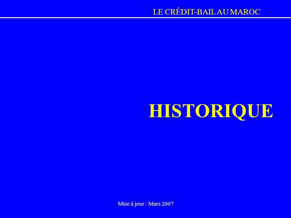 HISTORIQUE Mise à jour : Mars 2007